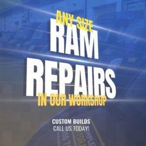 Local hydraulic ram repairs